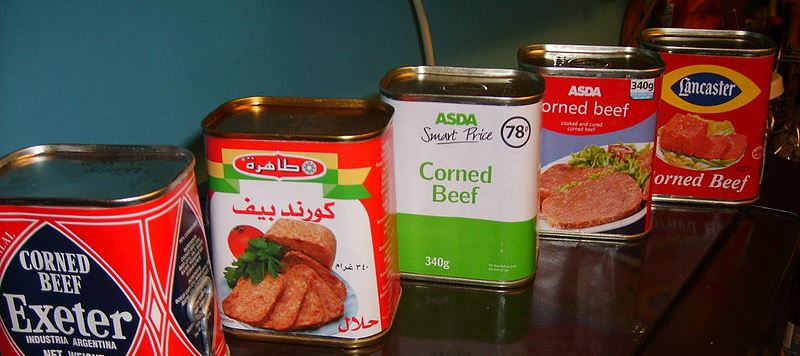 corned beef cans