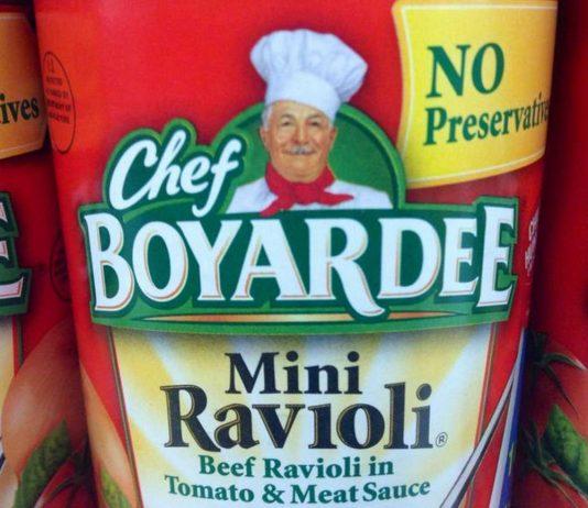 Chef Boyardee Mini Ravioli in a can