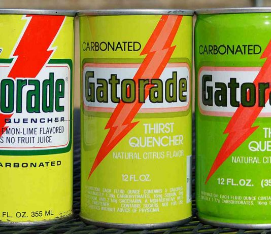 vintage classic Gatorade in a can