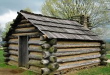 Old European Log Cabin