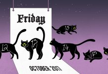 Friday the 13th cat calendar