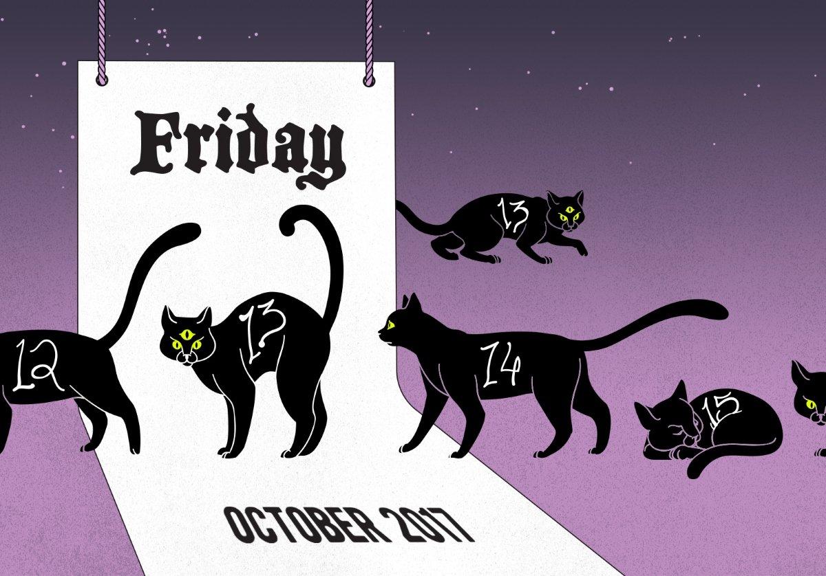 Friday the 13th cat calendar