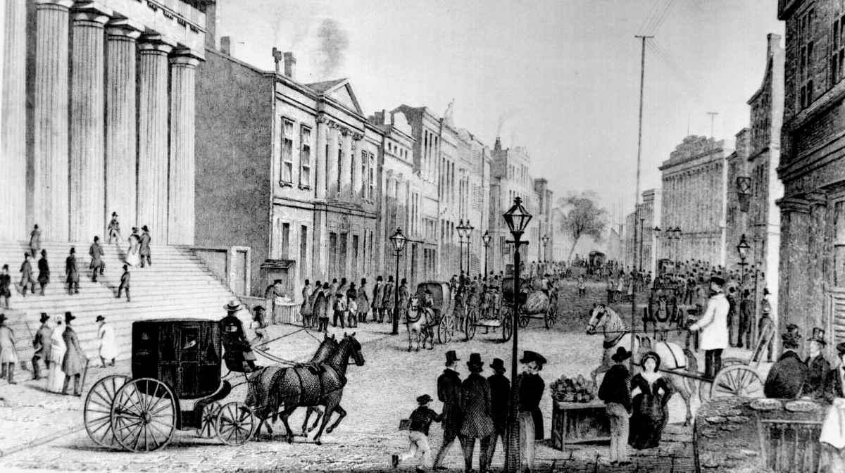 Wall Street in 1867