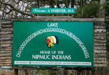 Lake sign