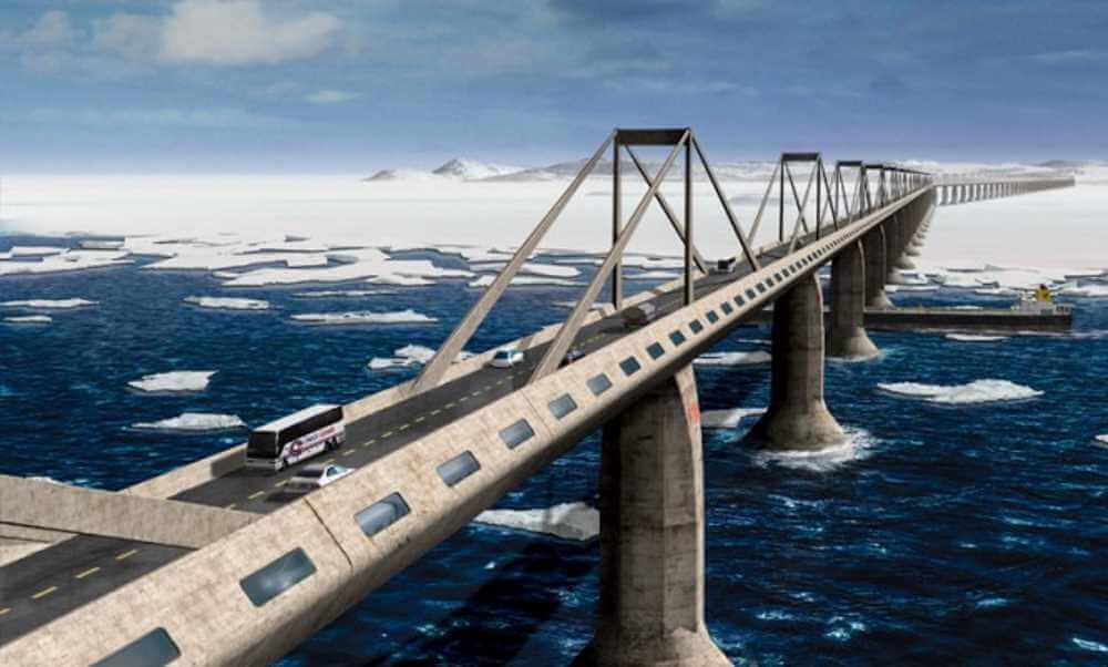 Russia Alaska Bridge