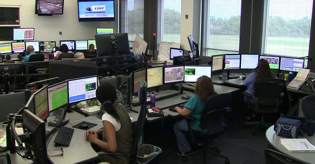 Denver, Colorado 911 dispatch center