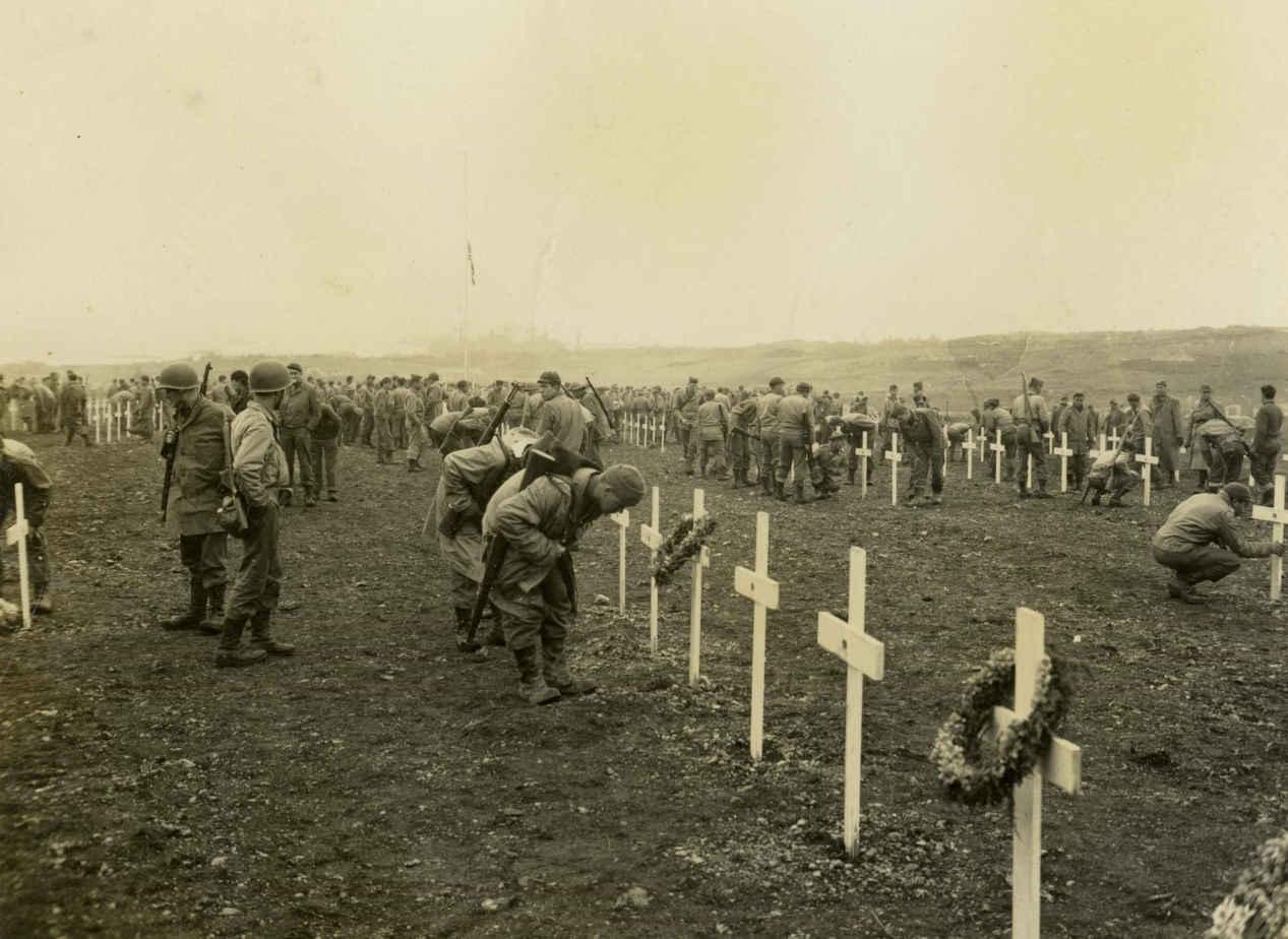 Word War II graveyard