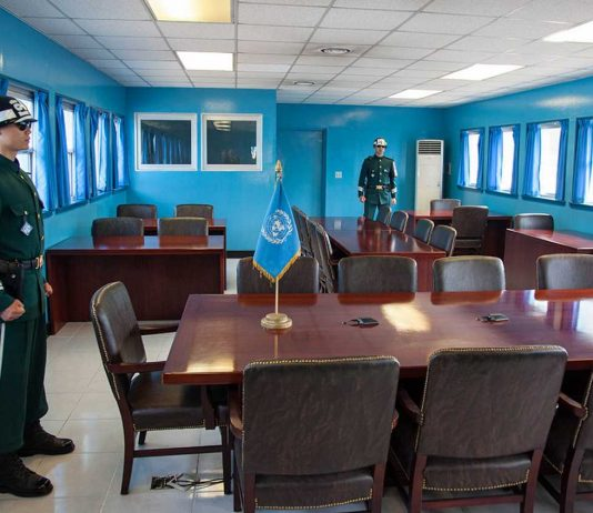 North Korea South Korea DMZ meeting room