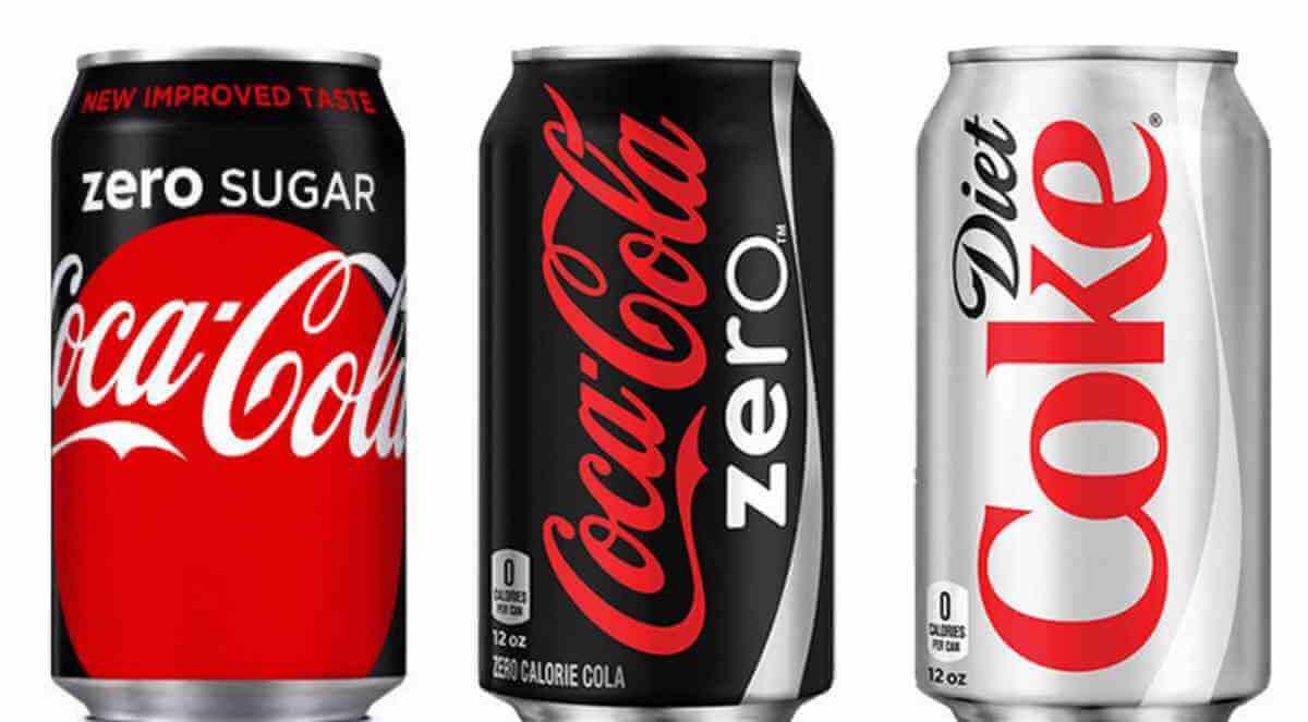 Coke Zero Sugar vs Coke Zero vs Diet Coke
