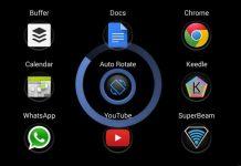 Mobile device auto rotate