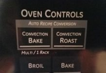 convection oven button