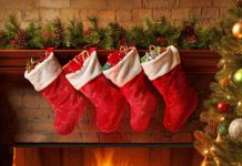 Fireplace Christmas Stockings