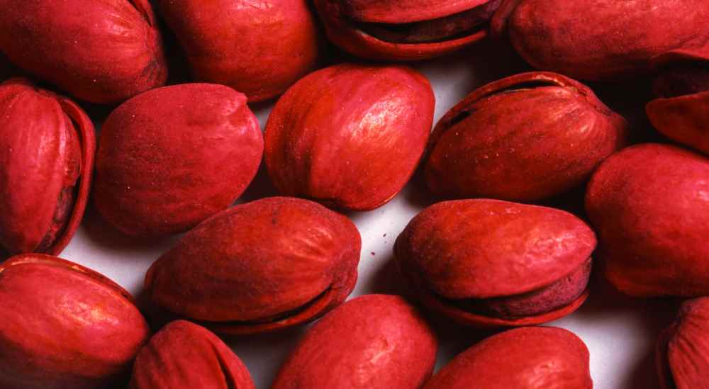 Heres red pistachios