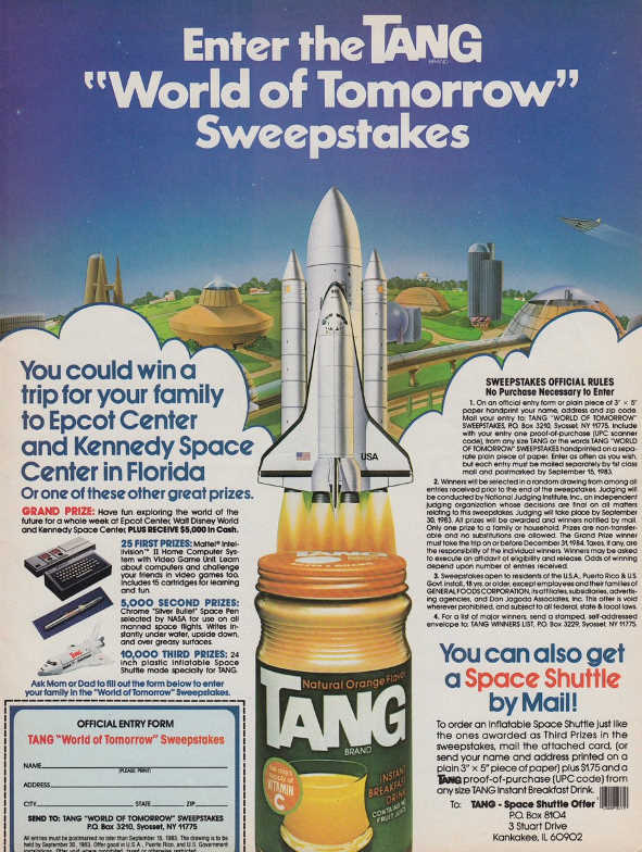 Tang space shuttle advertisement