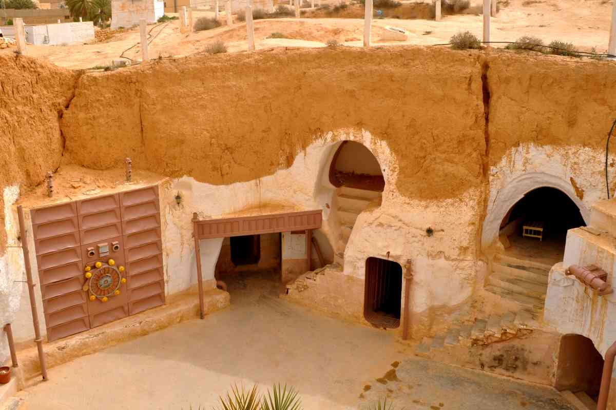 The Hotel Sidi Driss in Tunisia was used as Luke Skywalker's childhood home.